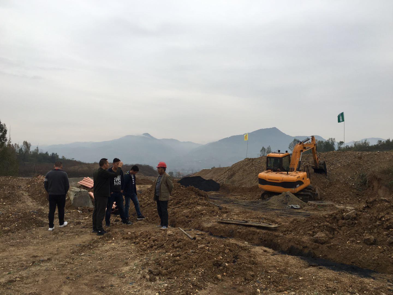 公司总经理带队督促白河飞地园区项目进度